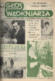 """Głos Włókniarza : dwutygodnik załogi ZPB """"Frotex"""" im. Powstańców Śląskich w Prudniku. R. 30, nr 3 (628) [630]."""