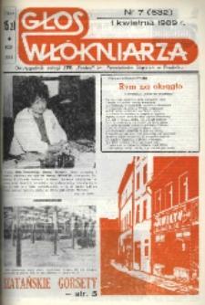 """Głos Włókniarza : dwutygodnik załogi ZPB """"Frotex"""" im. Powstańców Śląskich w Prudniku. R. 30, nr 7 (632) [634]."""