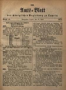 Amts-Blatt der Königlichen Regierung zu Oppeln, 1875, Bd. 60, St. 18