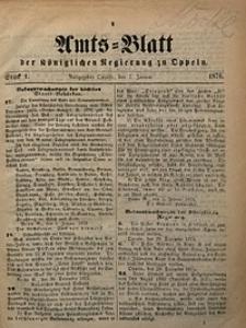 Amts-Blatt der Königlichen Regierung zu Oppeln, 1876, Bd. 61, St. 1