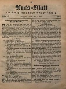 Amts-Blatt der Königlichen Regierung zu Oppeln, 1876, Bd. 61, St. 13
