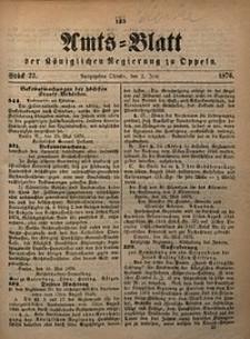 Amts-Blatt der Königlichen Regierung zu Oppeln, 1876, Bd. 61, St. 22