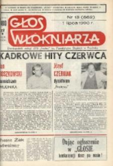 """Głos Włókniarza : dwutygodnik załogi ZPB """"Frotex"""" im. Powstańców Śląskich w Prudniku. R. 31, nr 13 (662) [664]."""