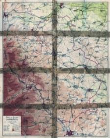 Mapa Głubczyc i okolic.