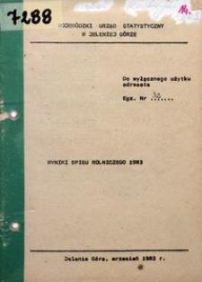 Wyniki spisu rolniczego 1983