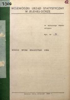Wyniki spisu rolniczego 1984