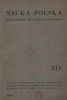 Nauka Polska, 1931, R. 14