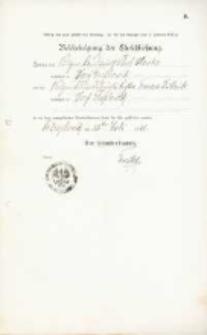Akt zawarcia małżeństwa z 11.07.1901 r.