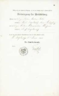 Akt zawarcia małżeństwa z 2.06.1901 r.