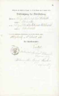 Akt zawarcia małżeństwa z 11.02.1901 r.