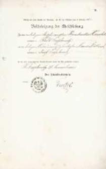 Akt zawarcia małżeństwa z 17.11.1901 r.
