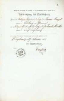Akt zawarcia małżeństwa z 19.02.1900 r.