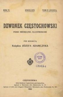 Dzwonek Częstochowski : pismo miesięczne, illustrowane. 1904, R.4, T.5(35) - maj