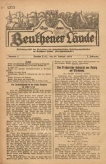 Aus dem Beuthener Lande, 1925, Jg. 2, Nr. 7
