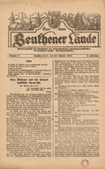 Aus dem Beuthener Lande, 1925, Jg. 2, Nr. 8
