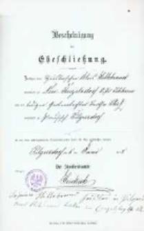 Akt zawarcia małżeństwa z 5.06.1898 r.