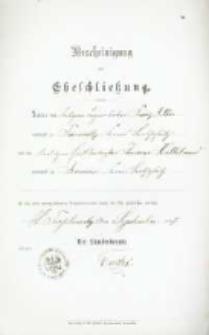 Akt zawarcia małżeństwa z 14.09.1897 r.