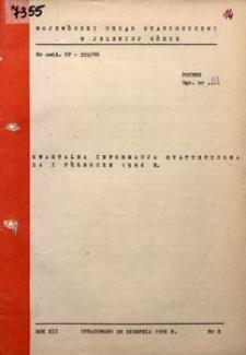 Kwartalna informacja statystyczna za I półrocze 1986 r.