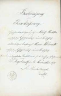 Akt zawarcia małżeństwa z 17.11.1895 r.