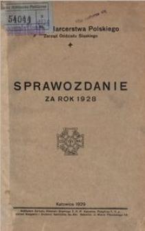 Związek Harcerstwa Polskiego. Zarząd Oddziału Śląskiego. Sprawozdanie za rok 1928