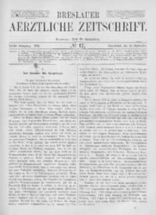 Breslauer Aerztliche Zeitschrift, 1881, Jg. 3, No. 17