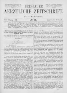 Breslauer Aerztliche Zeitschrift, 1881, Jg. 3, No. 21