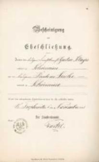 Akt zawarcia małżeństwa z 5.11.1893 r.