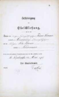 Akt zawarcia małżeństwa z 16.05.1892 r.
