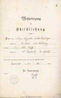 Akt zawarcia małżeństwa z 12.05.1889 r.