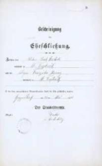 Akt zawarcia małżeństwa z 22.05.1888 r.