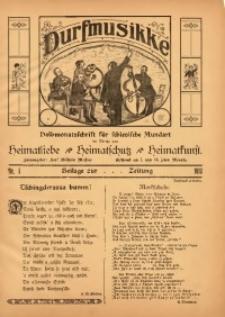 Durfmusikke, 1913, No. 1. - [Wyd. jako dodatek]