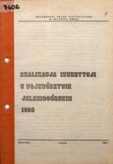 Realizacja inwestycji w województwie jelenioigórskim 1990