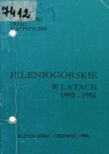 Jeleniogórskie w latach 1992-1993