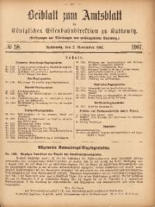 Beiblatt zum Amtsblatt der Königlischen Eisenbahndirektion zu Kattowitz, 1907, nr58