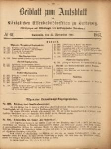 Beiblatt zum Amtsblatt der Königlischen Eisenbahndirektion zu Kattowitz, 1907, nr61