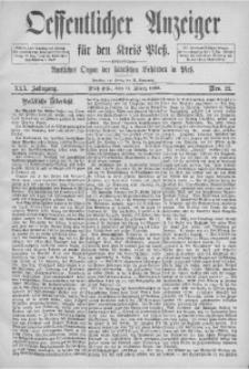 Oeffentlicher Anzeiger für den Kreis Pleß, 1882, Jg. 30, Nro. 22