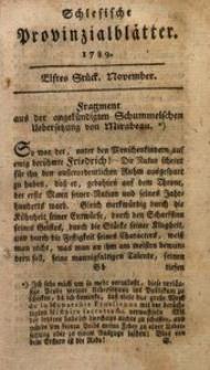 Schlesische Provinzialblätter, 1789, 10. Bd., 11. St.: November