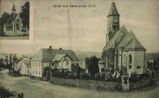 Bliszczyce. Kapliczka, kościół parafialny i plebania 1927 r.