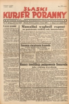 Śląski Kurjer Poranny, 1939, R. 5, Nr. 37