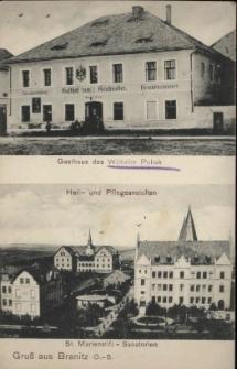 Branice. Gospoda Wilhelma Poliaka i sanatorium 1912 r.