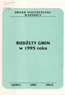Budżety gmin w 1995 roku