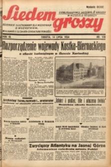 Siedem Groszy, 1934, R. 3, nr 190. - Wyd. DEGC