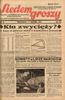 Siedem Groszy, 1934, R. 3, nr 255. - Wyd. DEGC