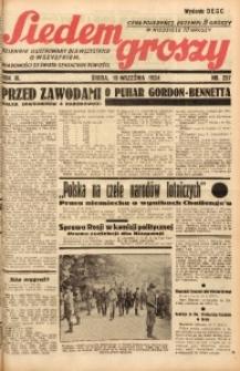 Siedem Groszy, 1934, R. 3, nr 257. - Wyd. DEGC