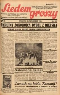 Siedem Groszy, 1934, R. 3, nr 293. - Wyd. DEGC