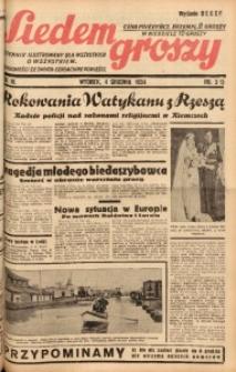 Siedem Groszy, 1934, R. 3, nr 333. - Wyd. DEGCF