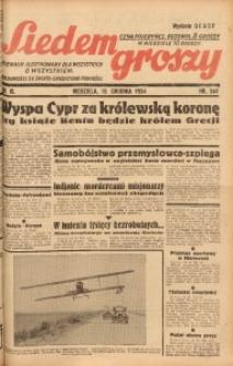 Siedem Groszy, 1934, R. 3, nr 344. - Wyd. DEGCF