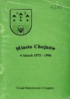 Miasto Chojnów w latach 1975 - 1996