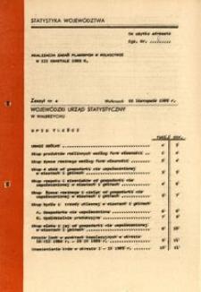 Realizacja zadań planowych w rolnictwie w III kwartale 1985 r.