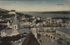 Brzeżany. Panorama miasta z widokiem na rynek, 1916 r.